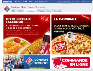 Page Facebook Domino's Pizza